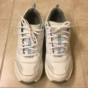 ABEO Women's Sneakers White with Teal Size 8.5